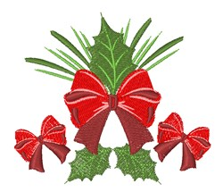 Holly Bows embroidery design