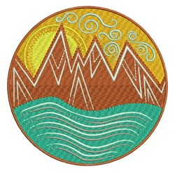 Mountains Patch embroidery design