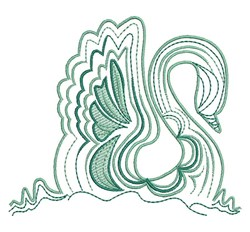 Ripple Swan embroidery design