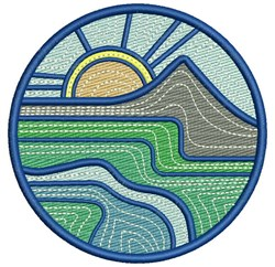 Ripple Landscape embroidery design