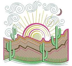 Desert Landscape embroidery design