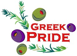 Greek Pride embroidery design