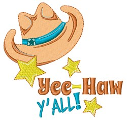 Yee-Haw Yall embroidery design