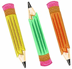 School Pencils embroidery design