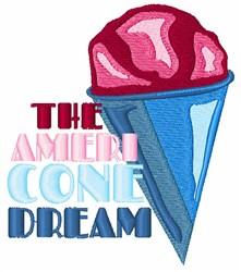 Ameri Cone Dream embroidery design