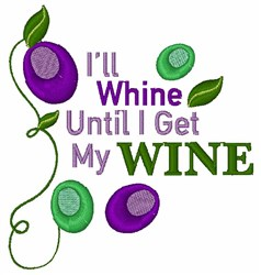 Get My Wine embroidery design