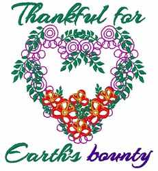 Earths Bounty embroidery design