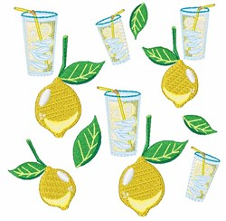 Lemons & Lemonade embroidery design