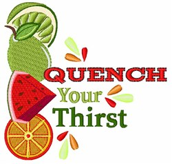Quench Your Thirst embroidery design
