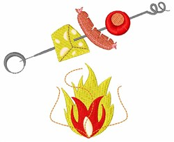 Flaming Kabobs embroidery design