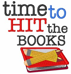 Time To Hit The Books embroidery design