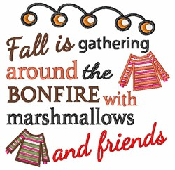 Fall Is embroidery design