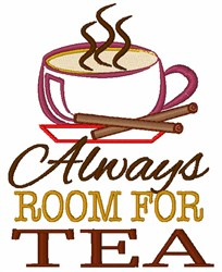 Always Room For Tea embroidery design