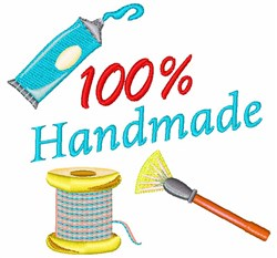 Crafting 100% Handmade embroidery design