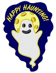 Happy Haunting Ghost embroidery design