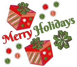 Merry Holidays! embroidery design