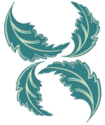 Floating Leaves embroidery design