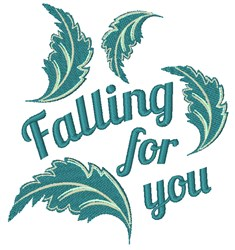 Falling For You embroidery design