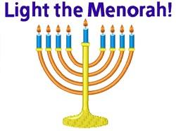 Light The Menorah embroidery design