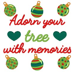 Christmas Memories embroidery design