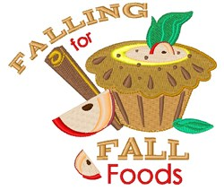 Falling For Fall Food embroidery design