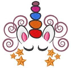 Swirly Unicorn embroidery design