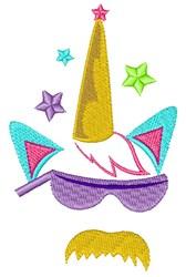 Cool Unicorn embroidery design
