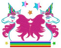 Unicorn Bookends embroidery design