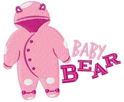 Baby Bear Outfit embroidery design