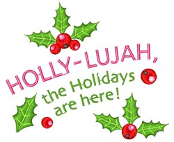 Holly-Lujah embroidery design