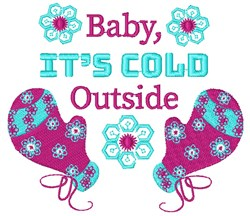 Baby, Its Cold Outside embroidery design