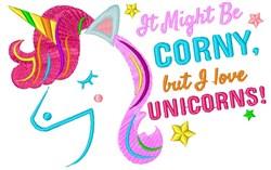 Love Unicorns embroidery design