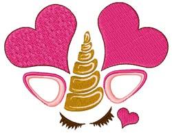 Valentines Day Unicorn embroidery design
