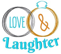 Love & Laughter embroidery design