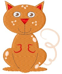 Orange Kitten embroidery design