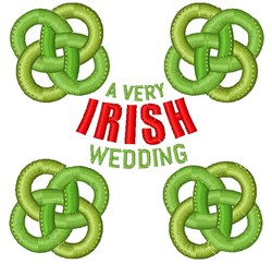 A Very Irish Wedding embroidery design