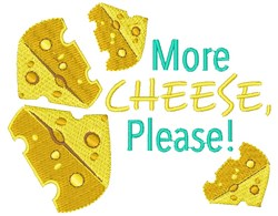 More Cheese, Please! embroidery design