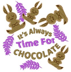 Always Time For Chocolate embroidery design