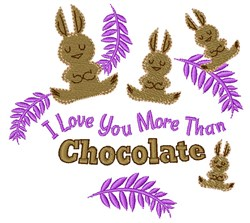 Love You More Than Chocolate embroidery design