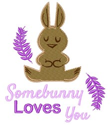 Somebunny Loves You embroidery design