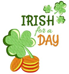Irish For A Day embroidery design