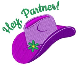 Hey, Partner! embroidery design