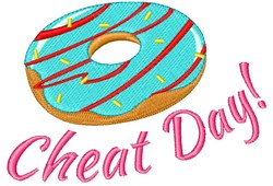 Cheat Day Donut embroidery design