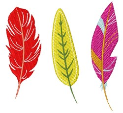 Colorful Feathers embroidery design
