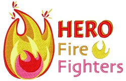 Hero Fire Fighters embroidery design