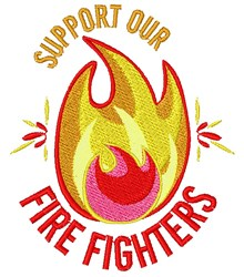 Support Our Fire Fighters embroidery design
