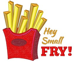 Hey Small Fry! embroidery design