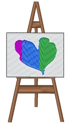 Heart Canvas embroidery design