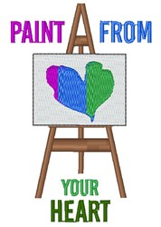 Paint From Your Heart embroidery design