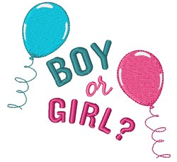Boy or Girl? embroidery design